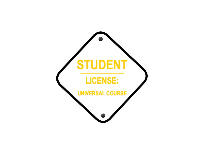 1012 – STUDENT LICENSE: UNIVERSAL COURSE